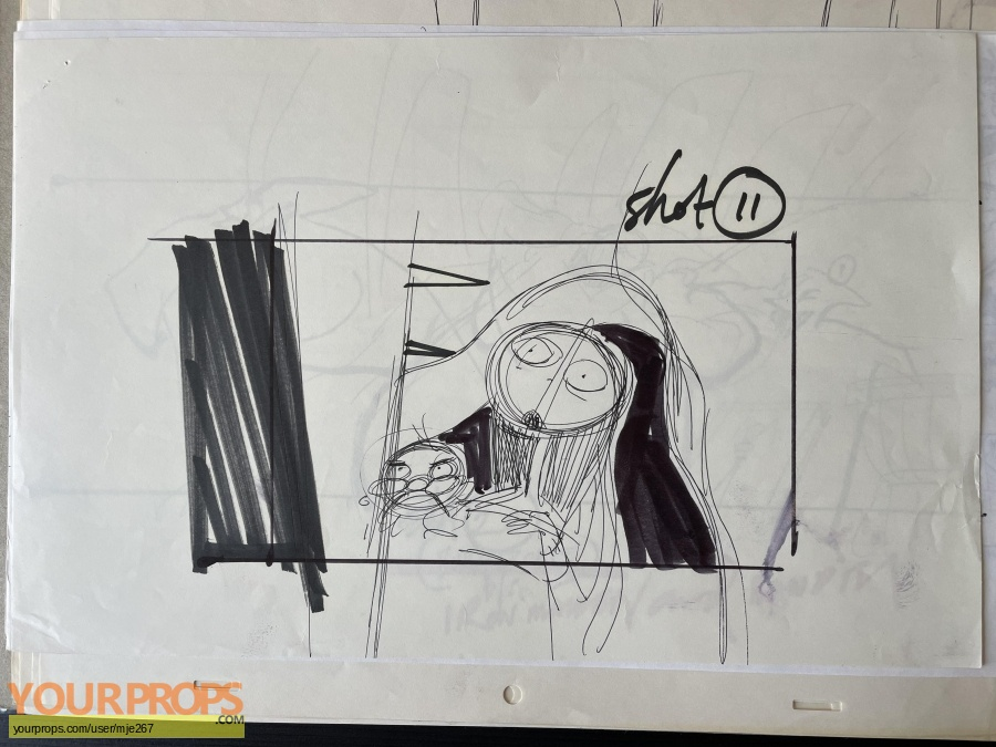 The Nightmare Before Christmas original production artwork