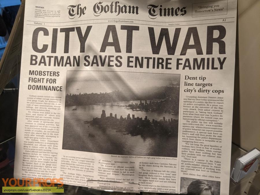 The Dark Knight replica production material