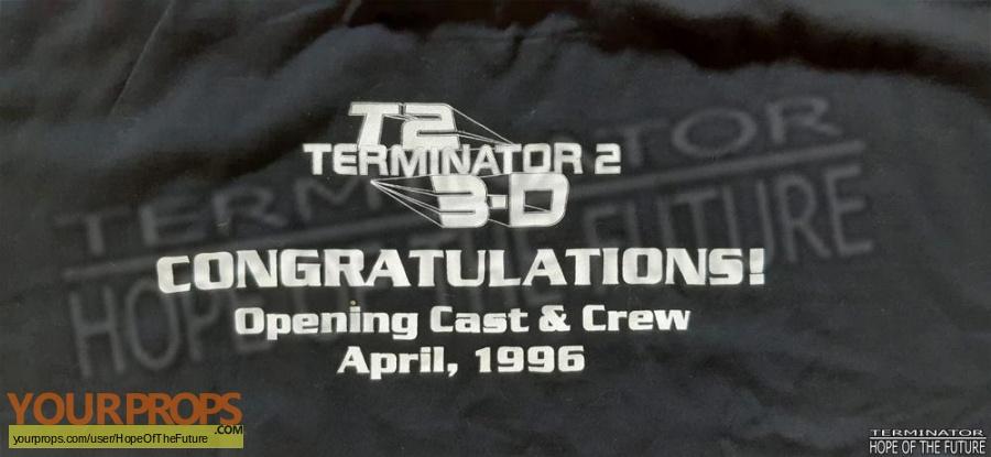 Terminator 2 3D  Battle Across Time original film-crew items