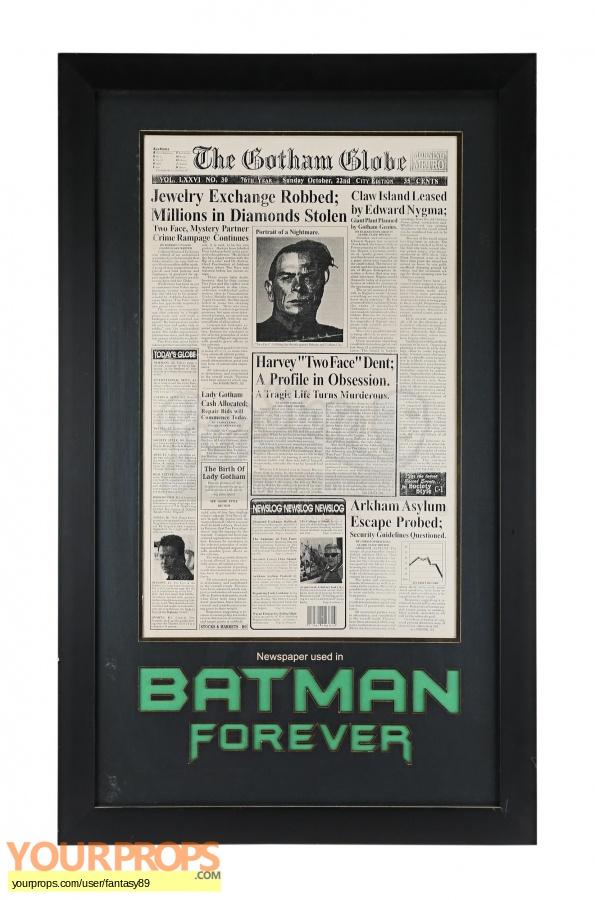 Batman Forever original production material