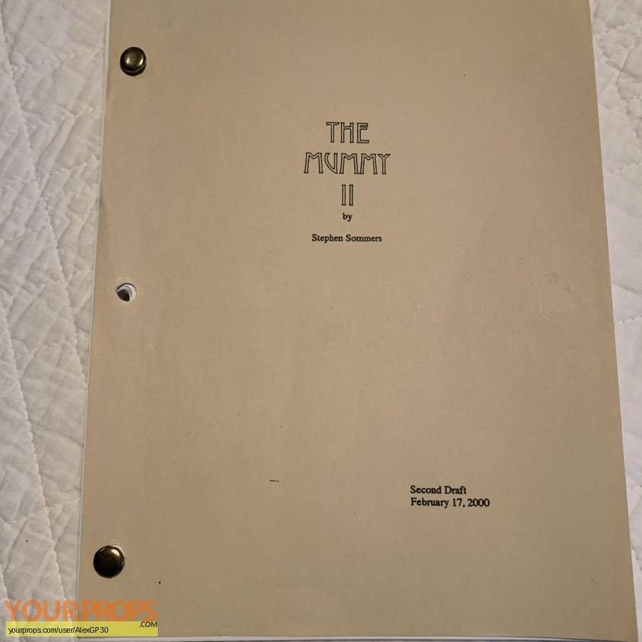 The Mummy Returns original production material