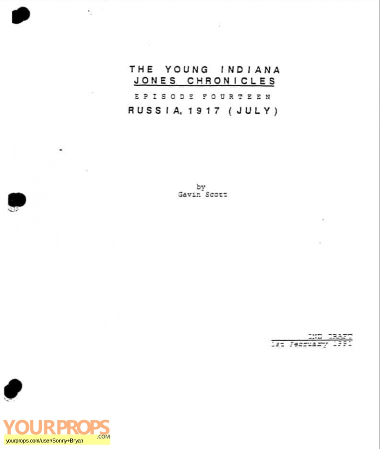 Young Indiana Jones Chronicles replica production material