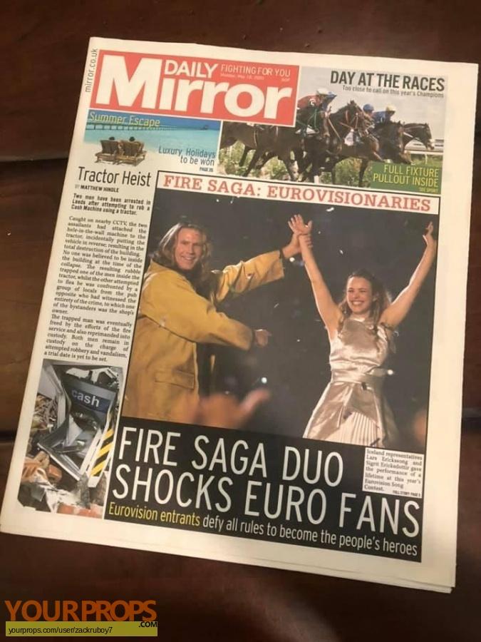 Eurovision Song Contest  The Story of Fire Saga original movie prop
