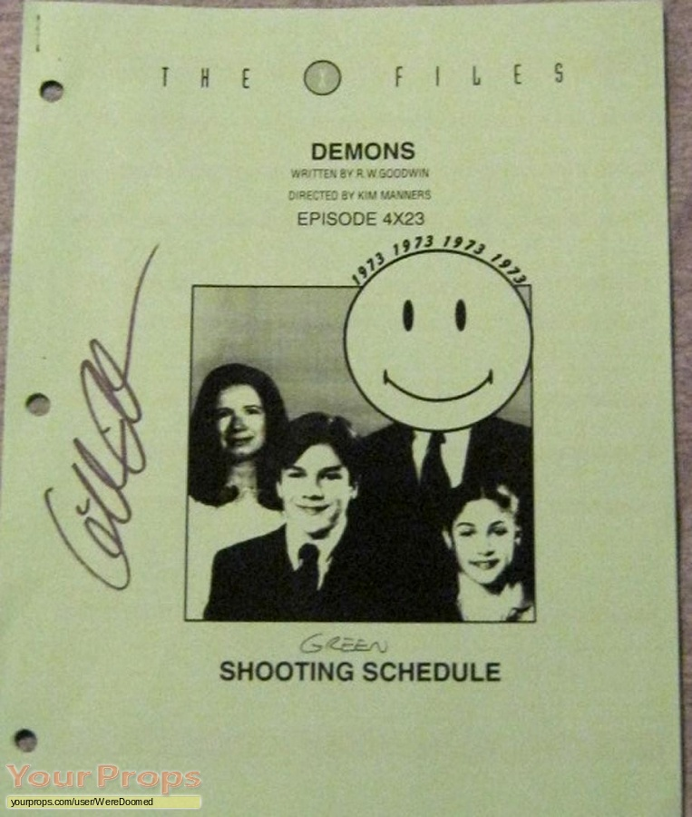The X Files original production material