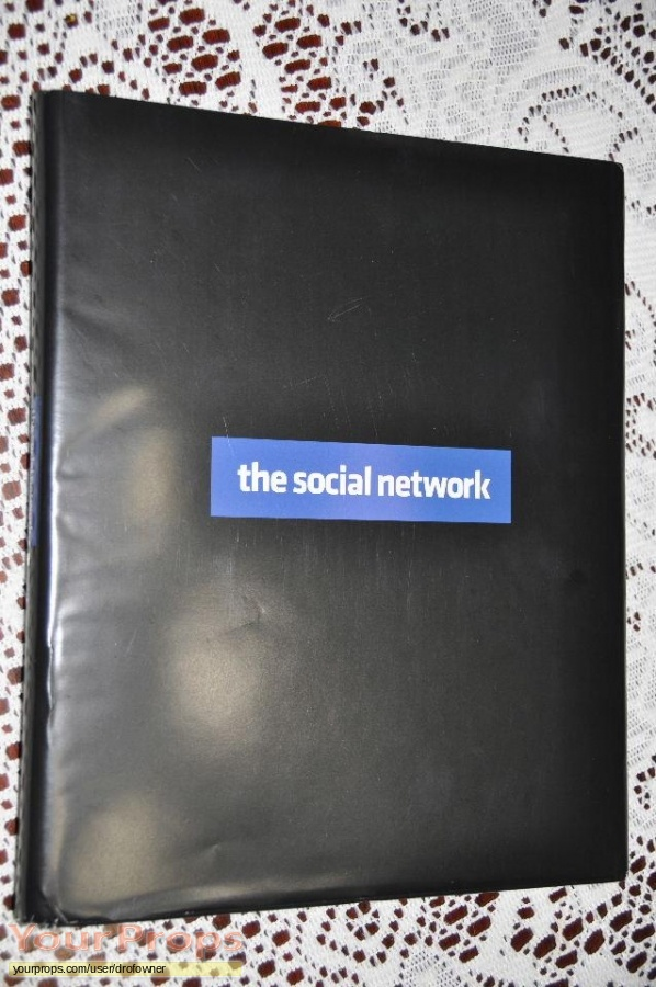 The Social Network original production material