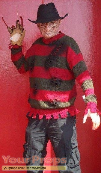 A Nightmare On Elm Street replica movie costume