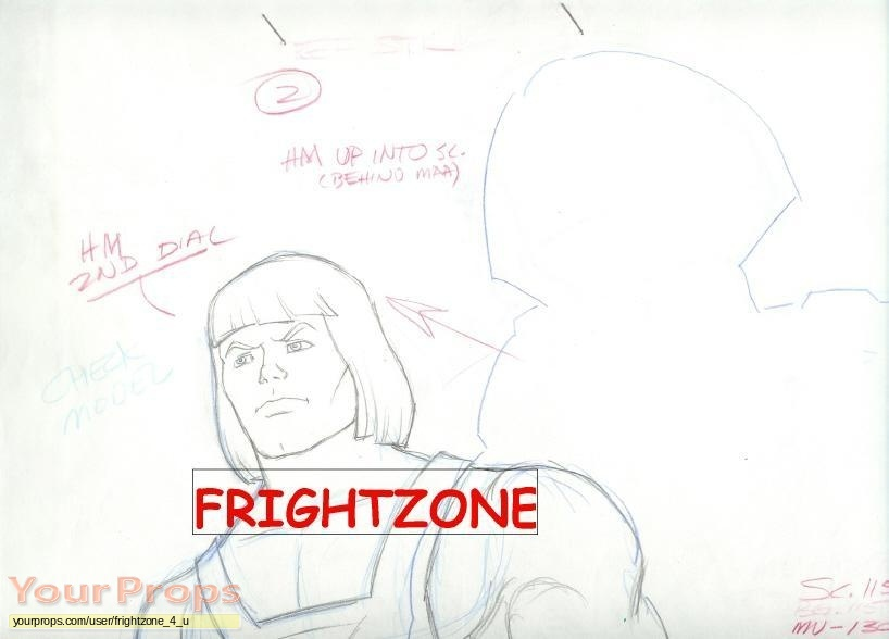 He-Man and the Masters of the Universe original production artwork