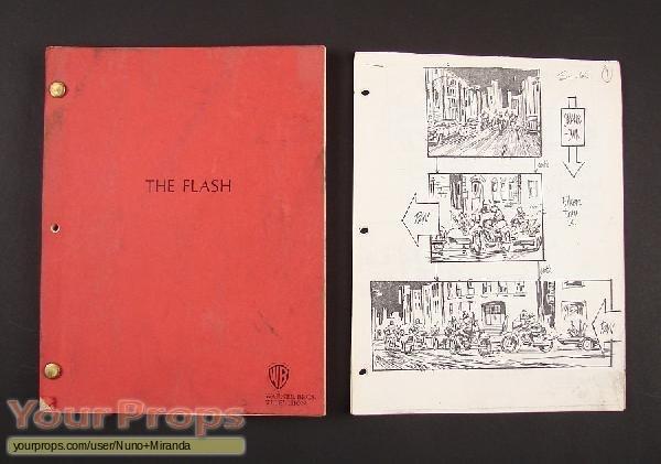 The Flash original production artwork