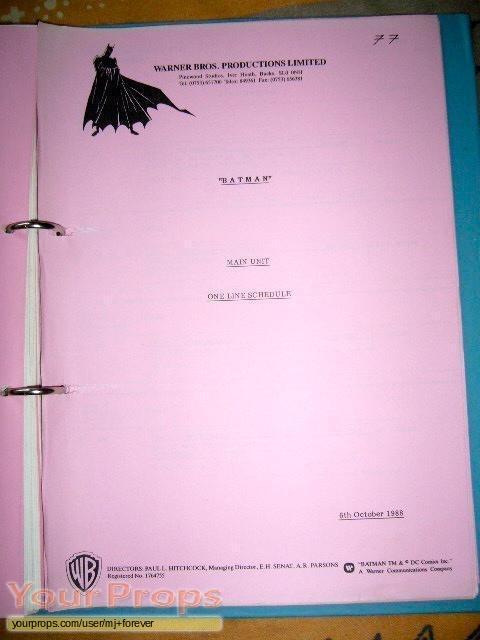 Batman original production material