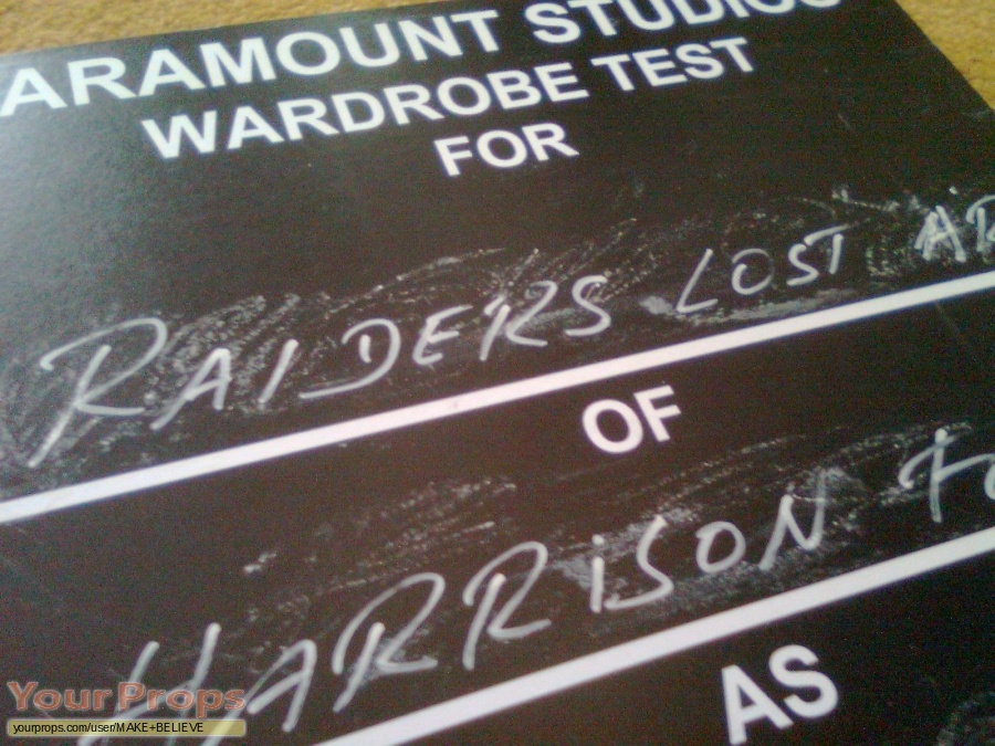 Indiana Jones And The Raiders Of The Lost Ark replica production material