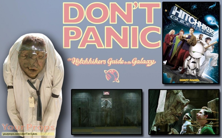 The Hitchhikers Guide to the Galaxy original movie prop