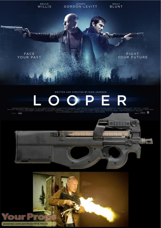 Looper original movie prop weapon