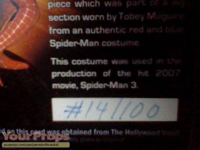 Spider-Man 3 swatch   fragment movie costume