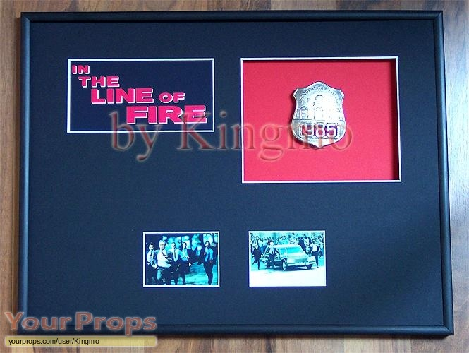 In the Line of Fire original movie prop