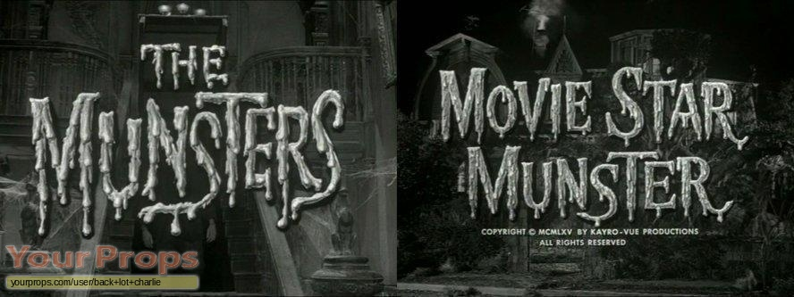 The Munsters original production material