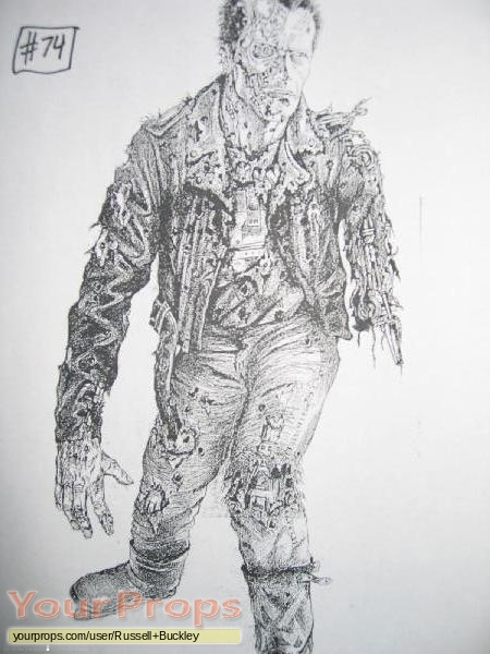 Terminator 2  Judgment Day replica production artwork