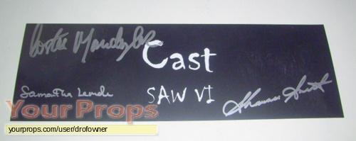 Saw VI original production material