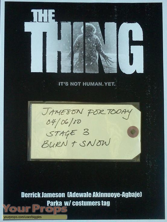 The Thing original movie costume