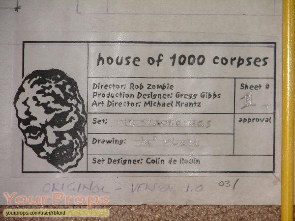 House of 1000 Corpses original production material