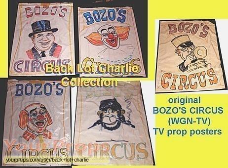 Bozos Circus original movie prop