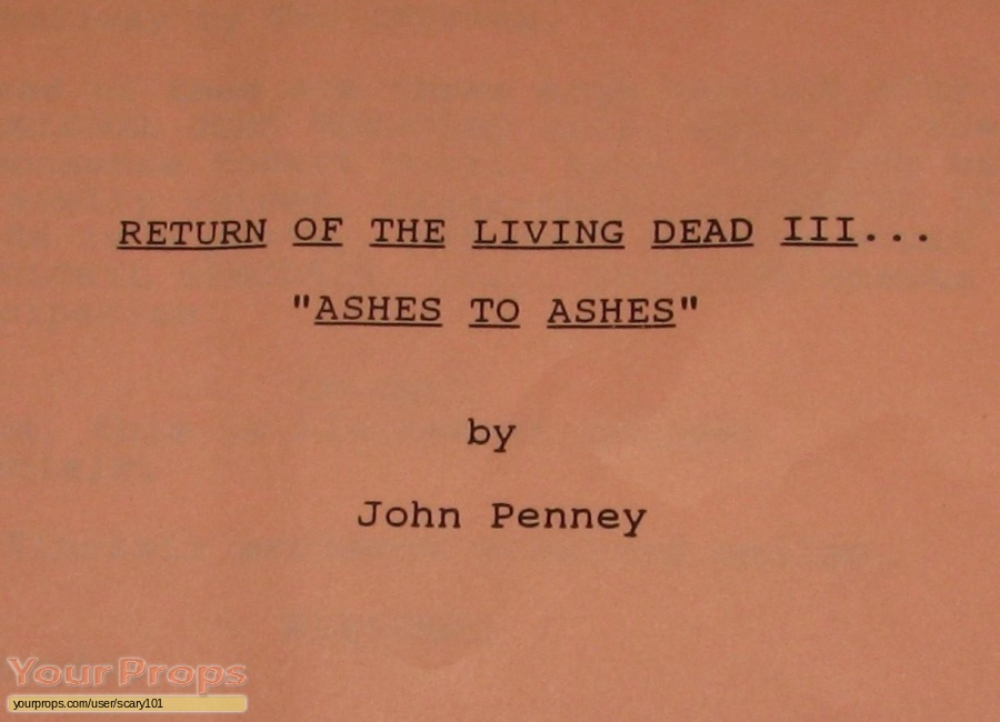 Return of the Living Dead  Part 3 original production material