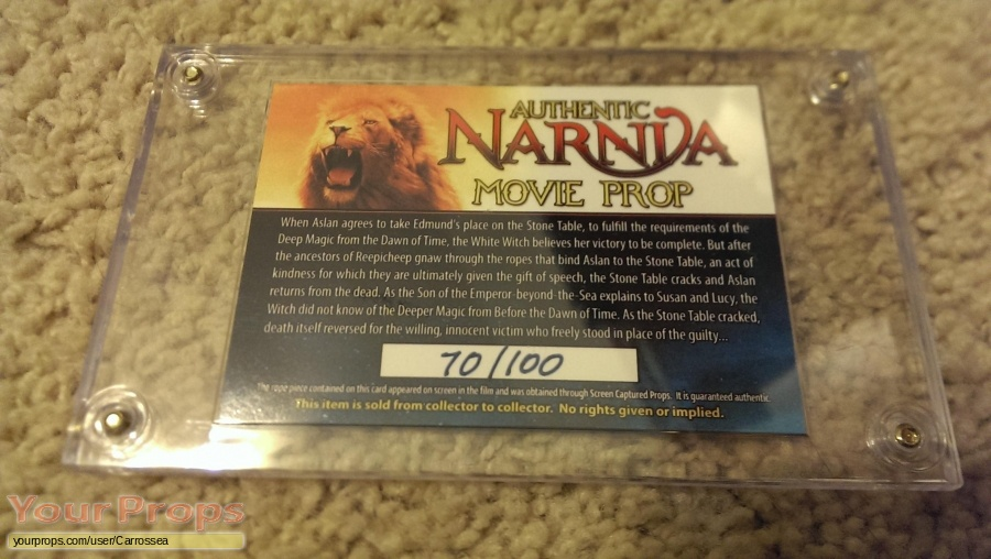 The Chronicles of Narnia  The Lion  the Witch and the Wardrobe original movie prop