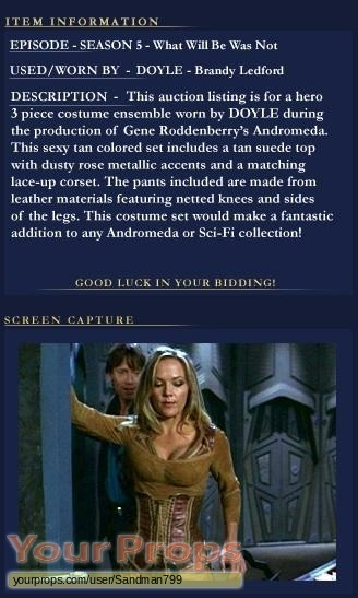 Andromeda original movie costume