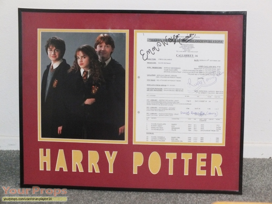 Harry Potter and the Philosophers Stone original production material
