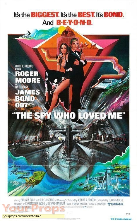 James Bond  The Spy Who Loved Me original movie prop