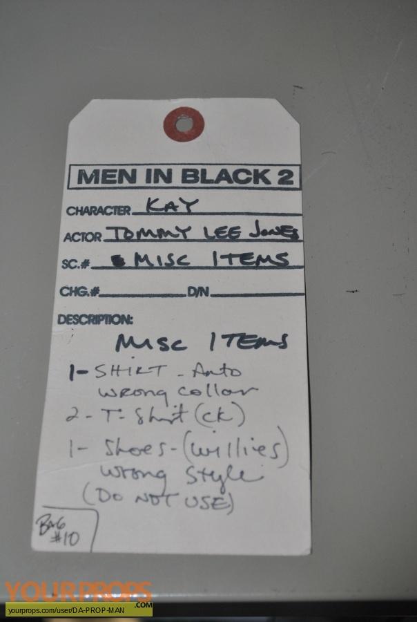 Men in Black original movie costume