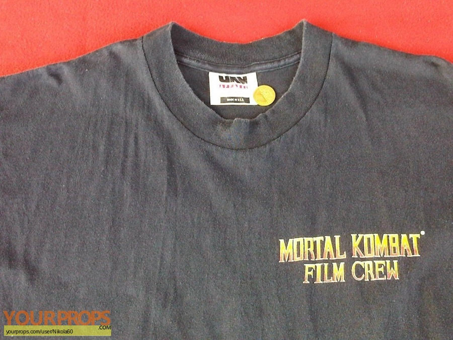 Mortal Kombat original film-crew items