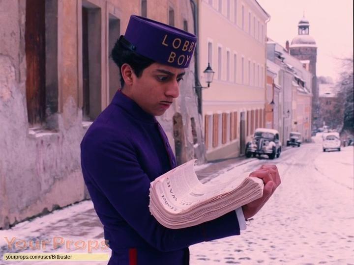 The Grand Budapest Hotel original movie prop