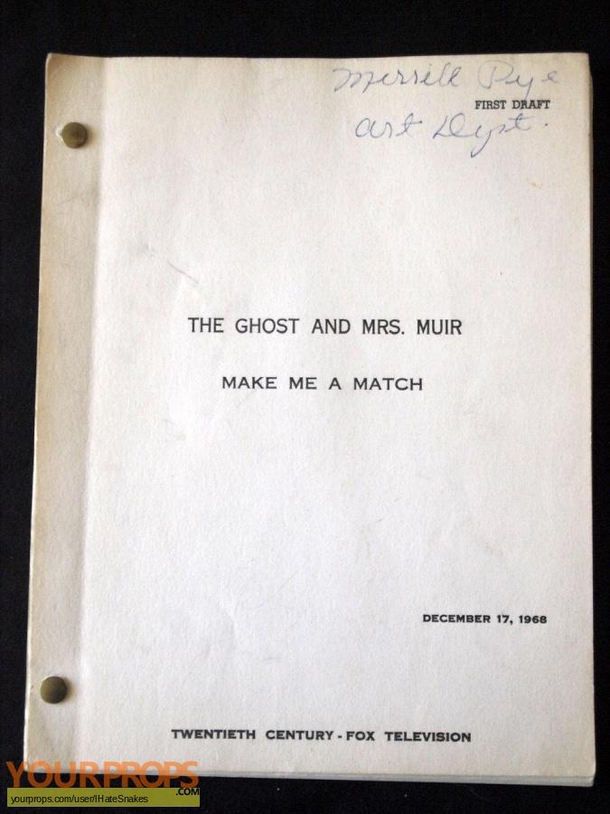 The Ghost   Mrs  Muir original film-crew items