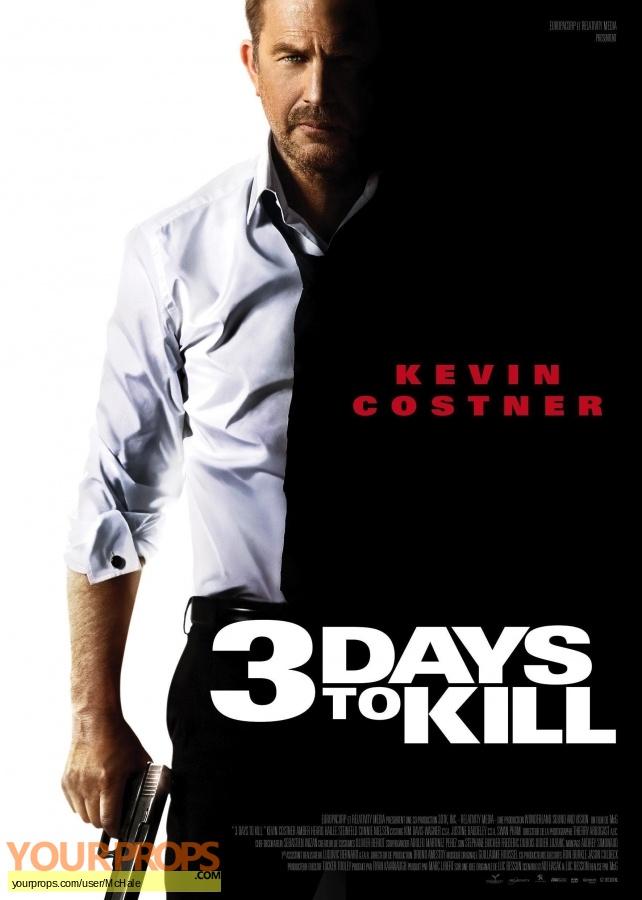 3 Days To kill original movie prop