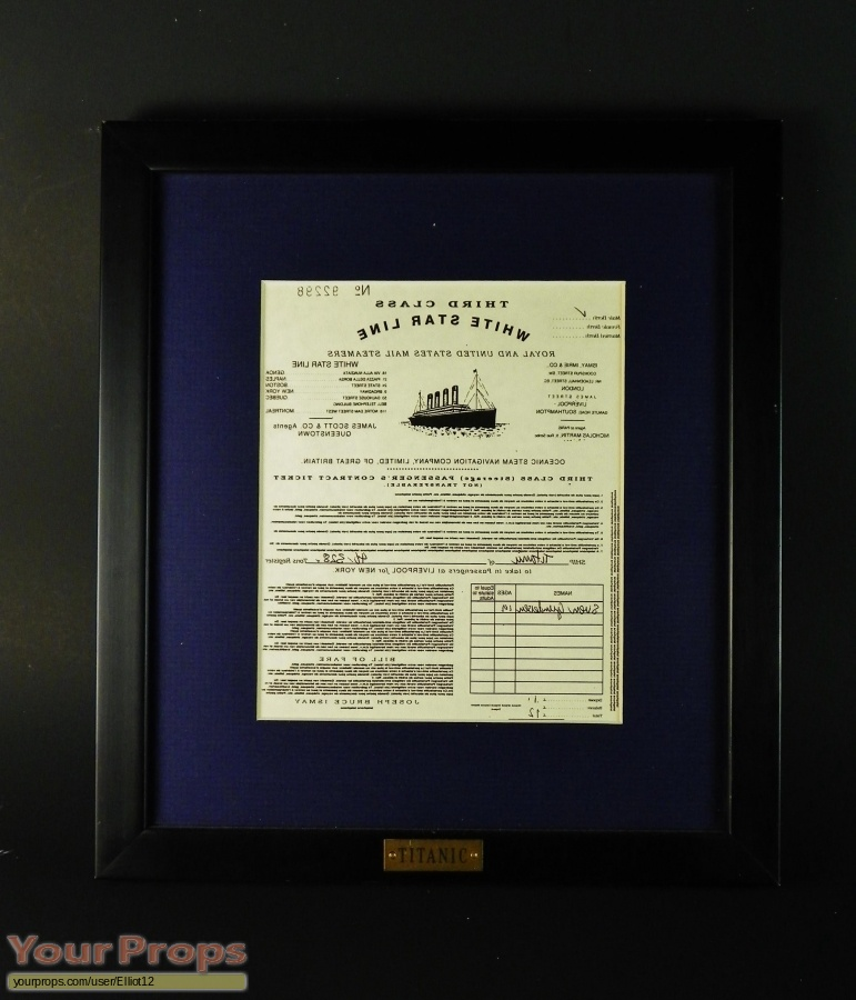 Titanic original movie prop