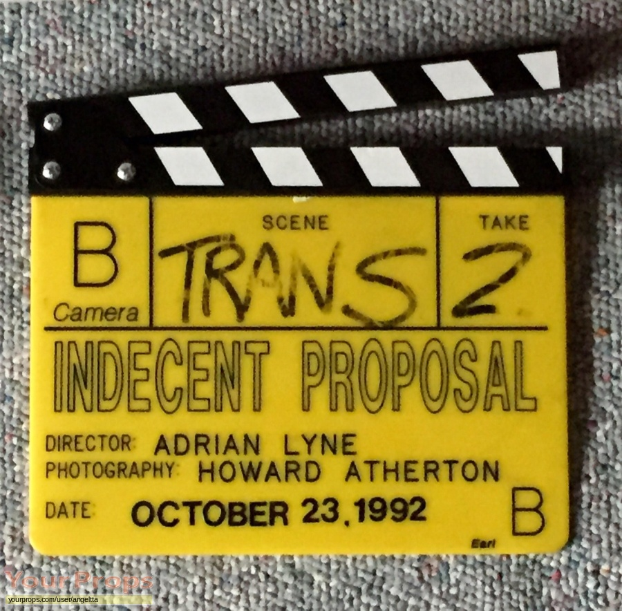 Indecent Proposal original film-crew items