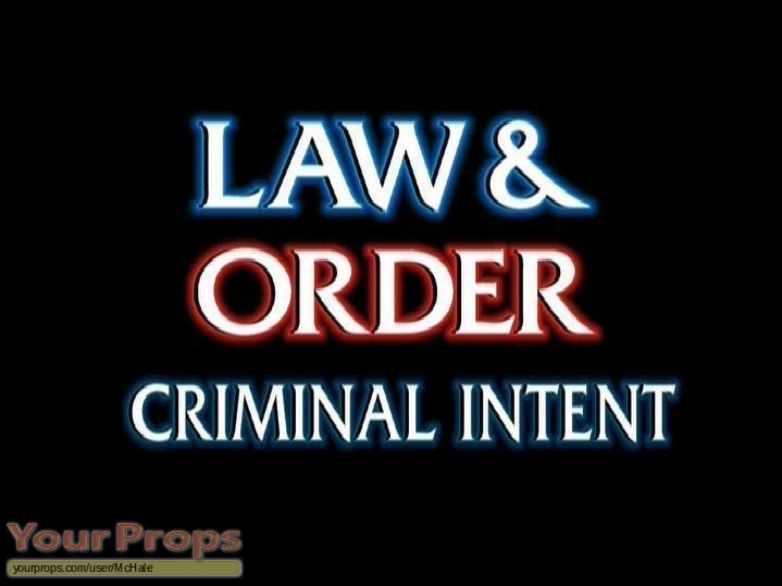 Law   Order  Criminal Intent replica movie prop