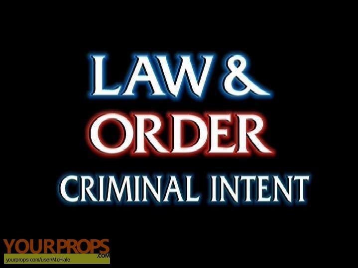 Law   Order  Criminal Intent replica movie prop