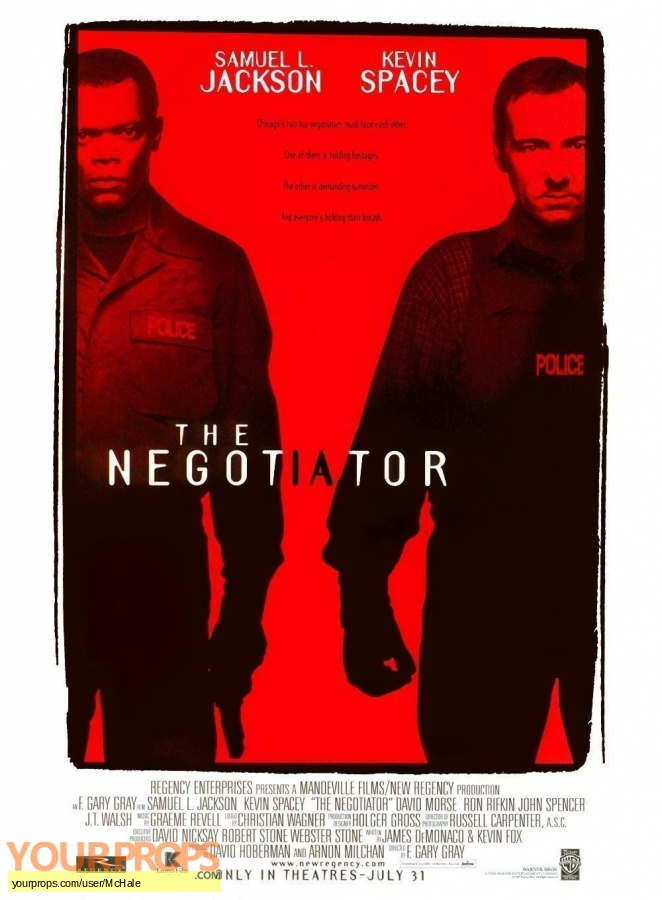 The Negotiator replica movie prop