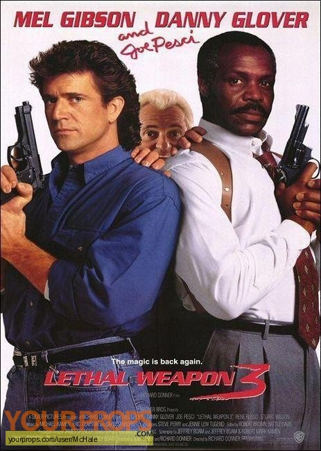 Lethal Weapon 3 replica movie prop