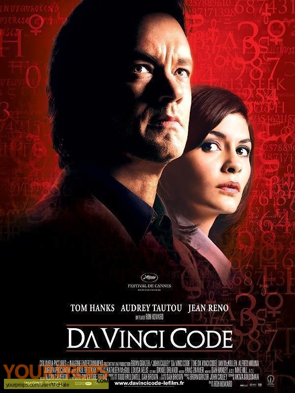 The DaVinci Code original movie prop
