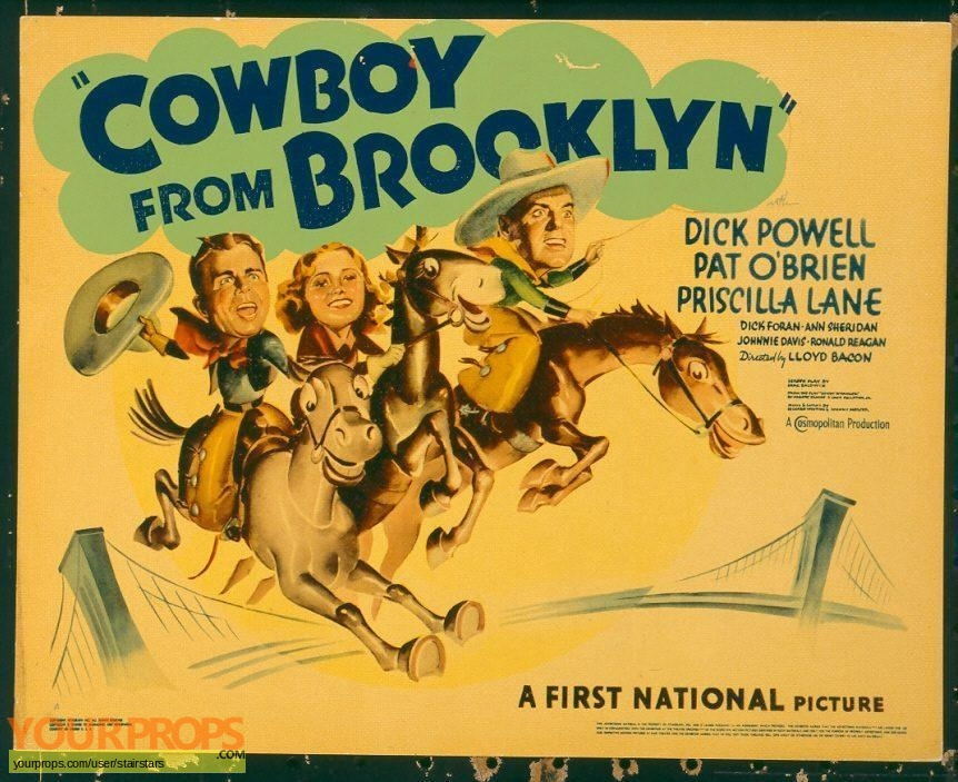 The Cowboy from Brooklyn original production artwork