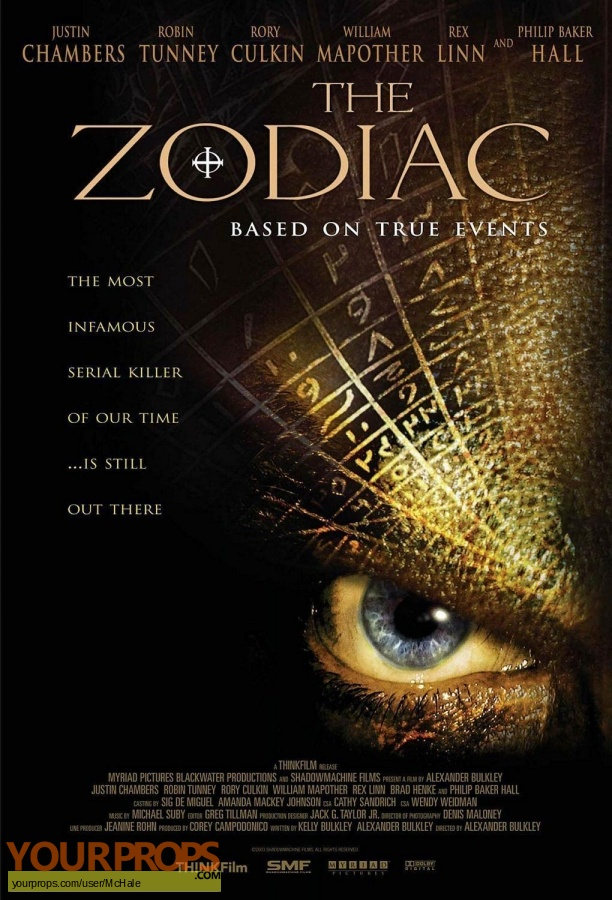 The Zodiac original movie prop