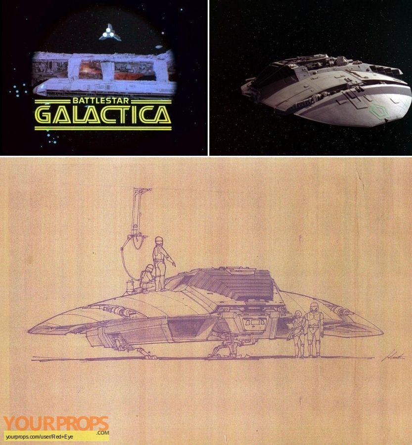 Battlestar Galactica replica production artwork