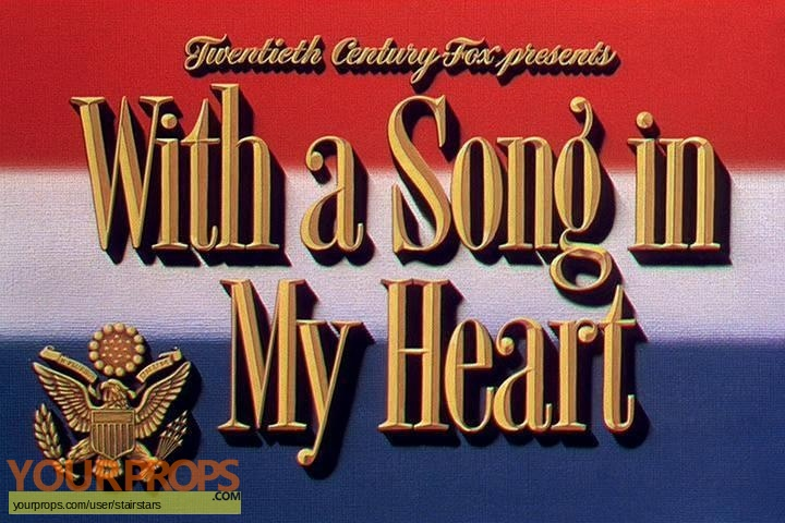 With A Song In My heart original production artwork