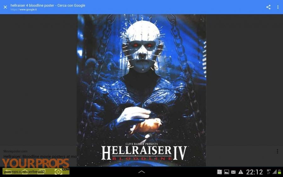 Hellraiser  Bloodline original production material