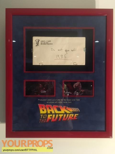 Back To The Future original movie prop