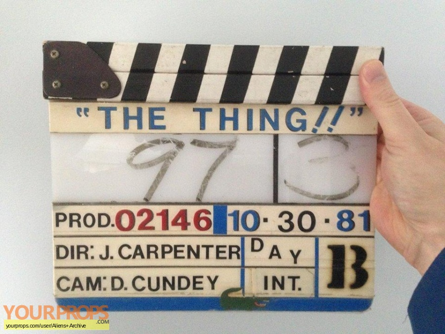 The Thing original production material