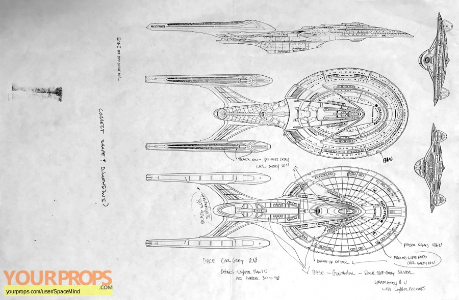 Star Trek  Nemesis original production artwork