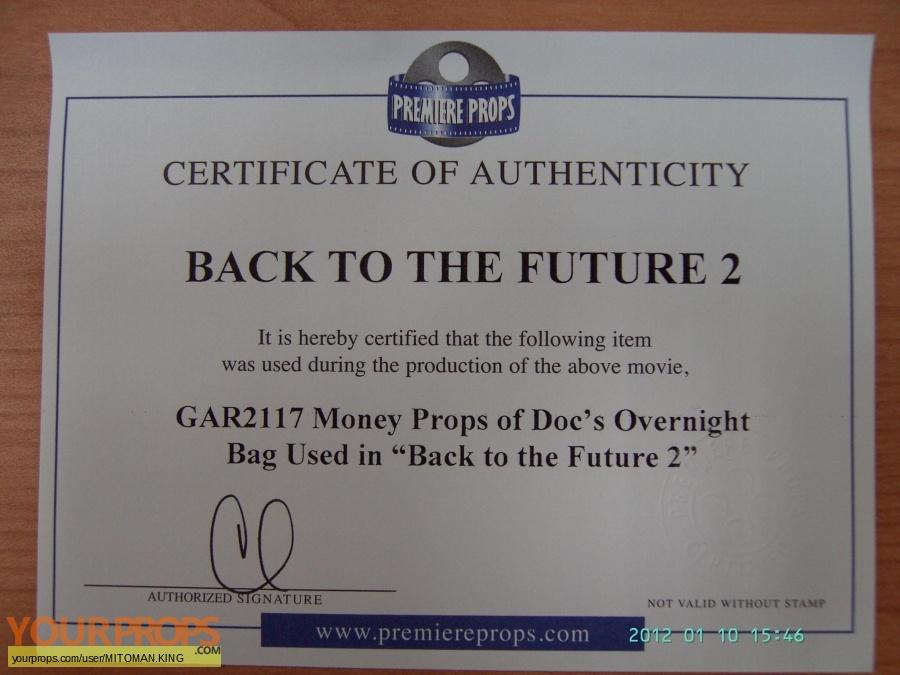 Back To The Future 2 original movie prop